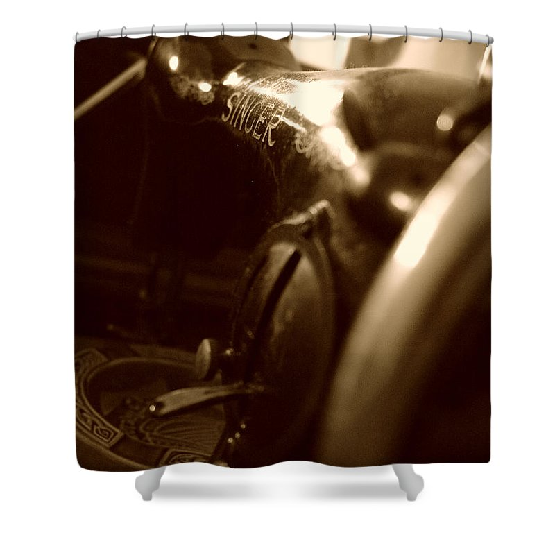 Old Singer Shower Curtain featuring the photograph Old Singer by Alessandro Della Pietra