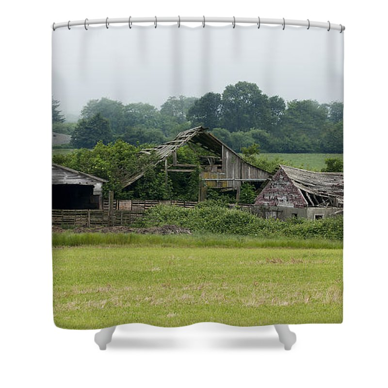 Barn Shower Curtain featuring the photograph Old Smith River Dairy by Betty Depee