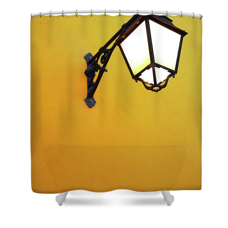 Background Shower Curtain featuring the photograph Old Street Lamp by Carlos Caetano