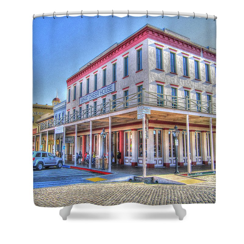 Street Corner Shower Curtain featuring the photograph Old Towne Sacramento by Barry Jones