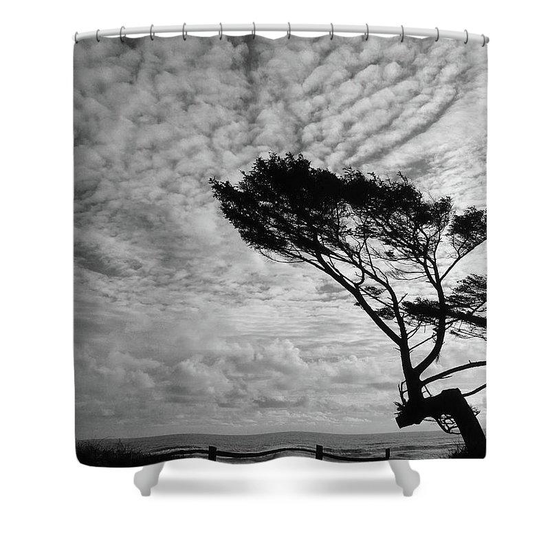 Seascape Shower Curtain featuring the photograph Omen by Lauren Leigh Hunter Fine Art Photography