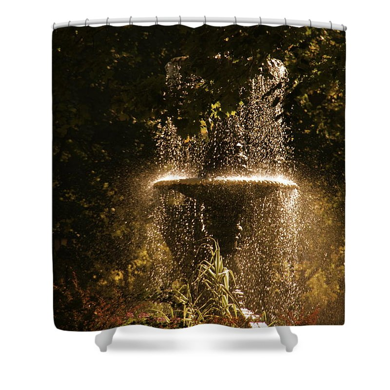 Fountain Shower Curtain featuring the photograph On A Perfect Day by Valerie Rosen