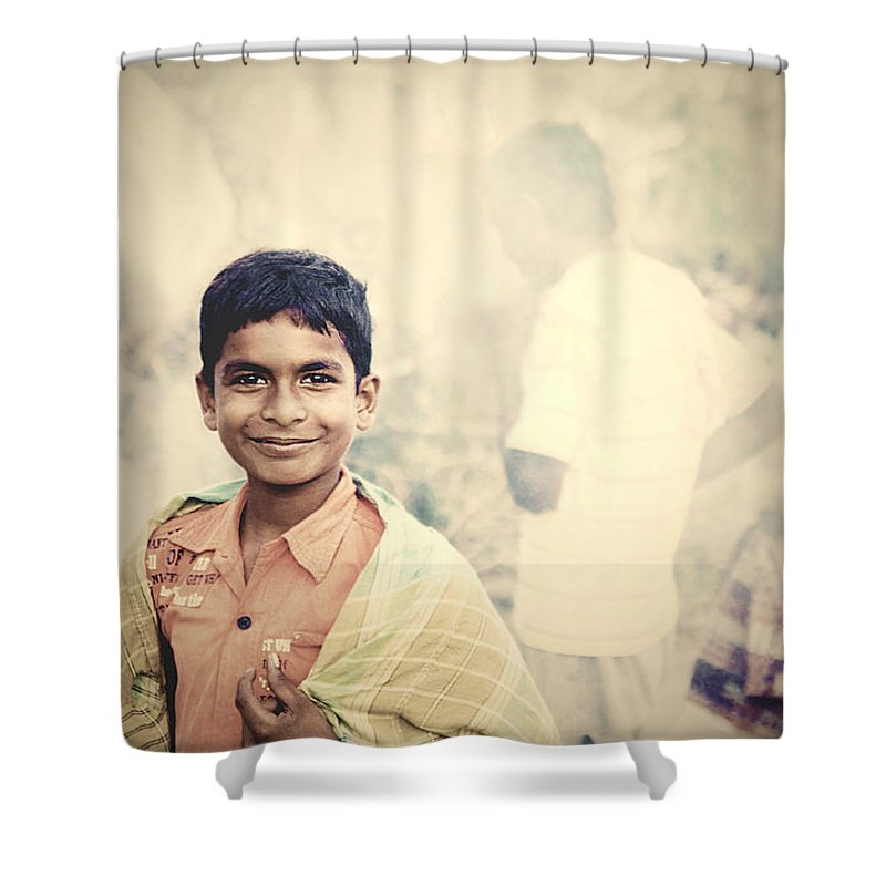 Boys Shower Curtain featuring the photograph On Becoming A Man by Valerie Rosen