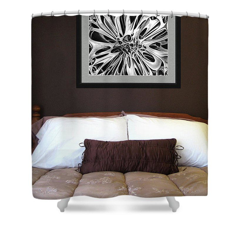 Shower Curtain featuring the photograph On Display 03 by Peter Piatt