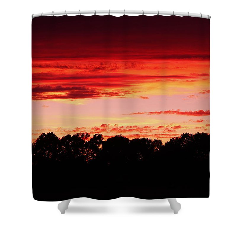 On Fire Shower Curtain featuring the photograph On Fire by Rachel Cohen