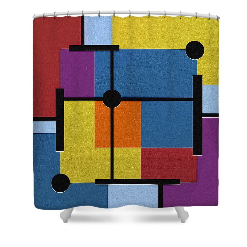 Abstract Art Shower Curtain featuring the digital art Oracle by Ely Arsha