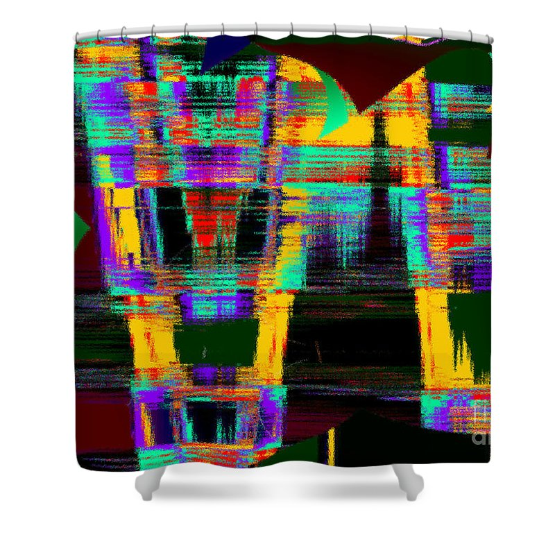 Thirsty Shower Curtain featuring the digital art Orange Juice by Tom Hubbard