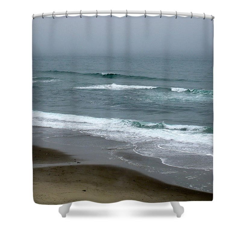 Oregon Shower Curtain featuring the photograph Oregon Coast by Linda Hutchins