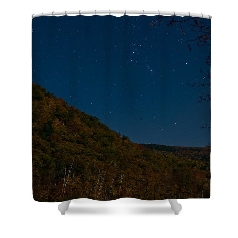 Mt. Crawford Shower Curtain featuring the photograph Orion Over Mt. Crawford by Geoffrey Bolte