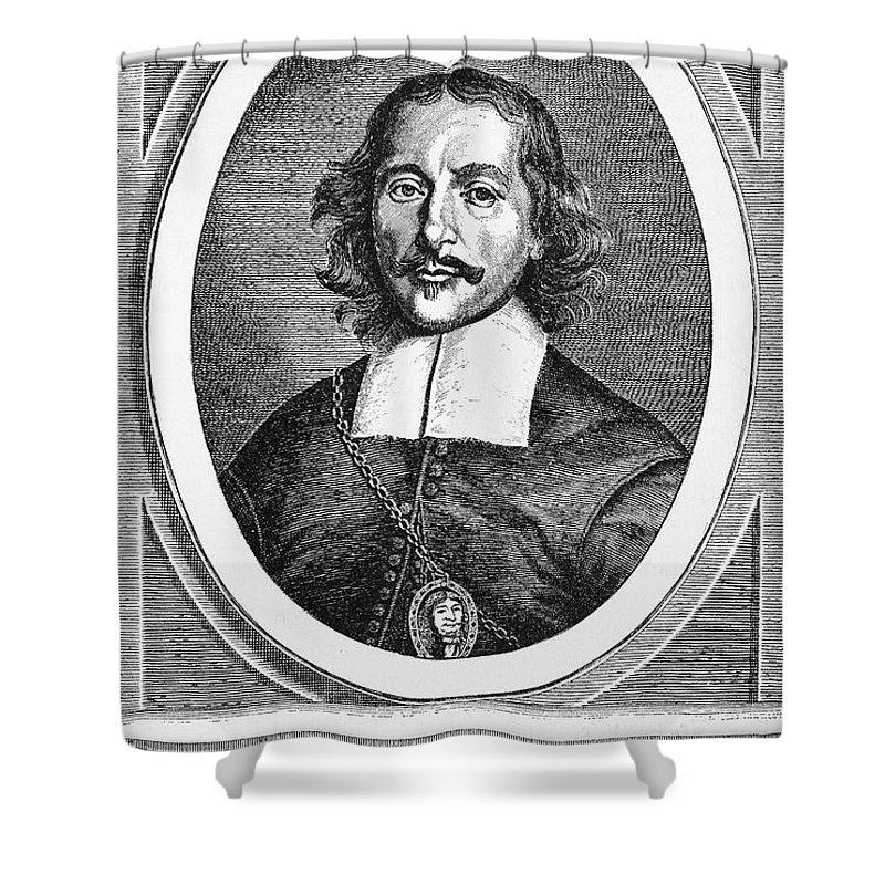 1672 Shower Curtain featuring the photograph Otto Von Guericke (1602-1686) by Granger
