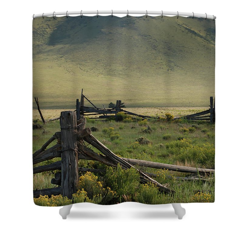 Eagle Nest Shower Curtain featuring the photograph Out To Pasture by Ron Weathers
