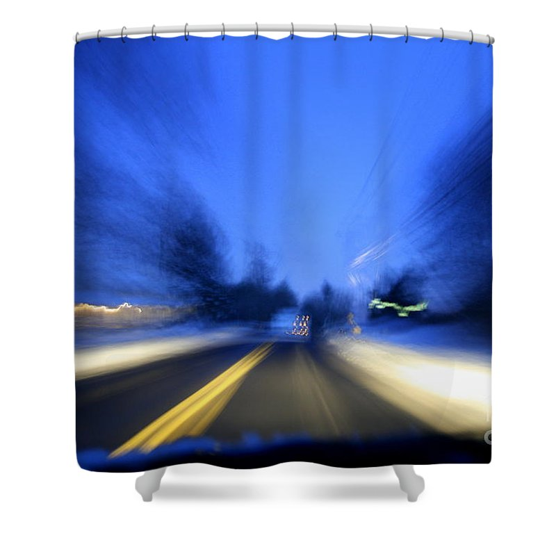 Abstract Shower Curtain featuring the photograph Outlaw by Neal Eslinger