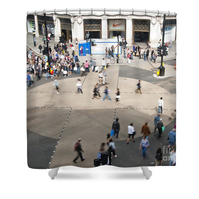 Britain Shower Curtain featuring the photograph Oxford Circus by Andrew Michael