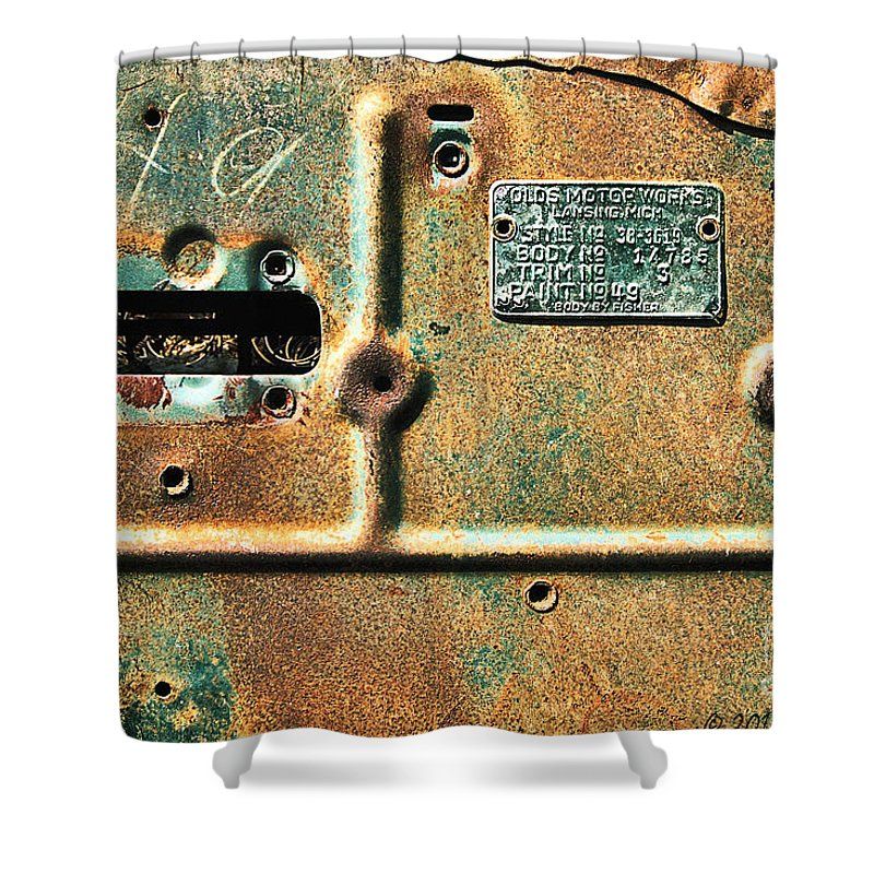 Automobile Shower Curtain featuring the photograph Paint No. 49 by Susan Smith