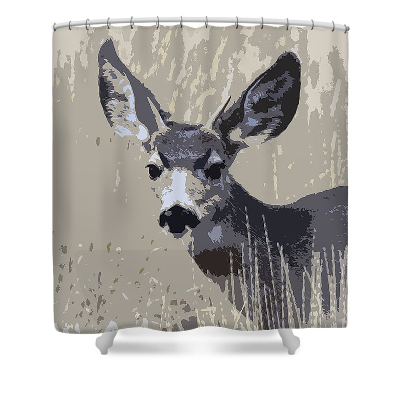 Wildlife Shower Curtain featuring the photograph Painted Muley by Steve McKinzie