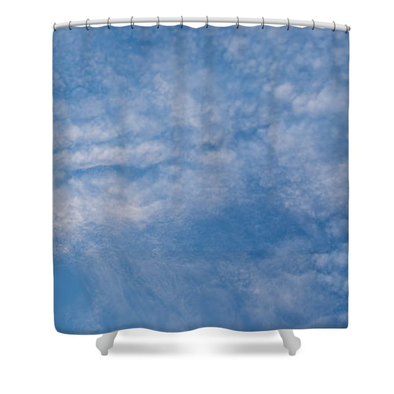 Cloud Shower Curtain featuring the photograph Panoramic Clouds Number 4 by Steve Gadomski