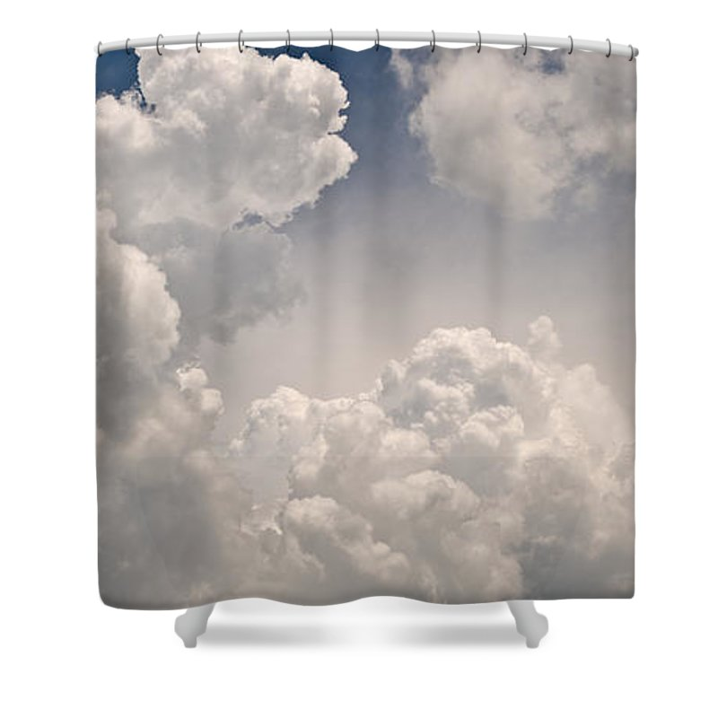 Cloud Shower Curtain featuring the photograph Panoramic Clouds Number 9 by Steve Gadomski