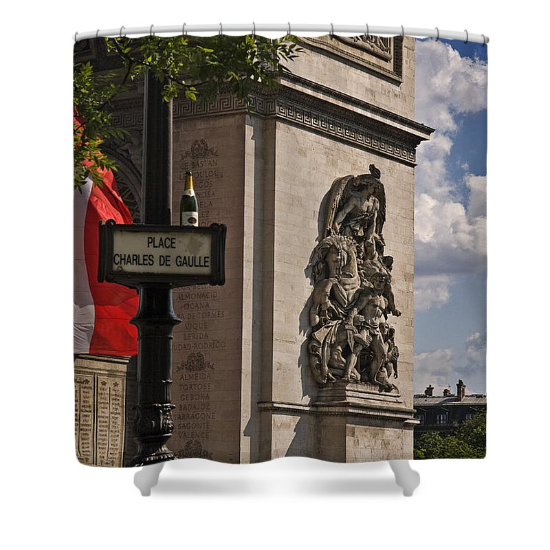 Paris Frame Of Mind Shower Curtain featuring the photograph Paris Frame Of Mind by Wes and Dotty Weber