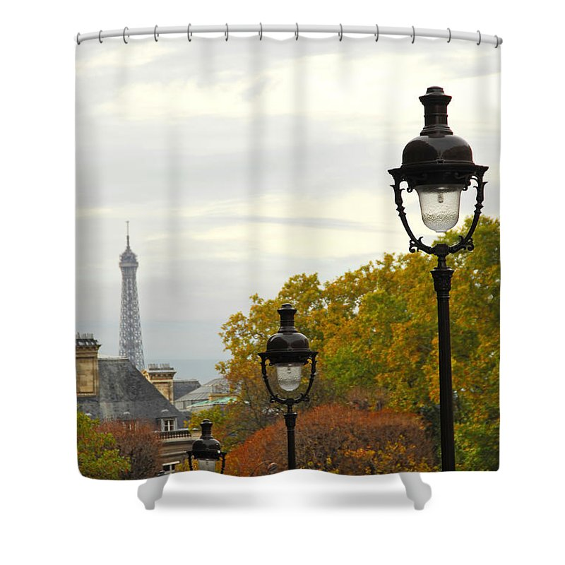 Building Shower Curtain featuring the photograph Paris Street by Elena Elisseeva