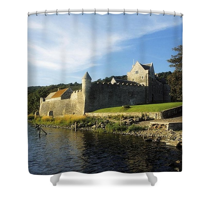 Archaeology Shower Curtain featuring the photograph Parkes Castle, Co Leitrim, Ireland by The Irish Image Collection