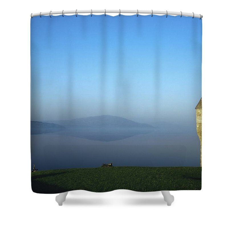 Bay Shower Curtain featuring the photograph Parkes Castle, Lough Gill, County by The Irish Image Collection