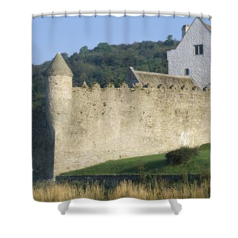 Architectural Heritage Shower Curtain featuring the photograph Parkes Castle,co Sligo,irelandpanoramic by The Irish Image Collection