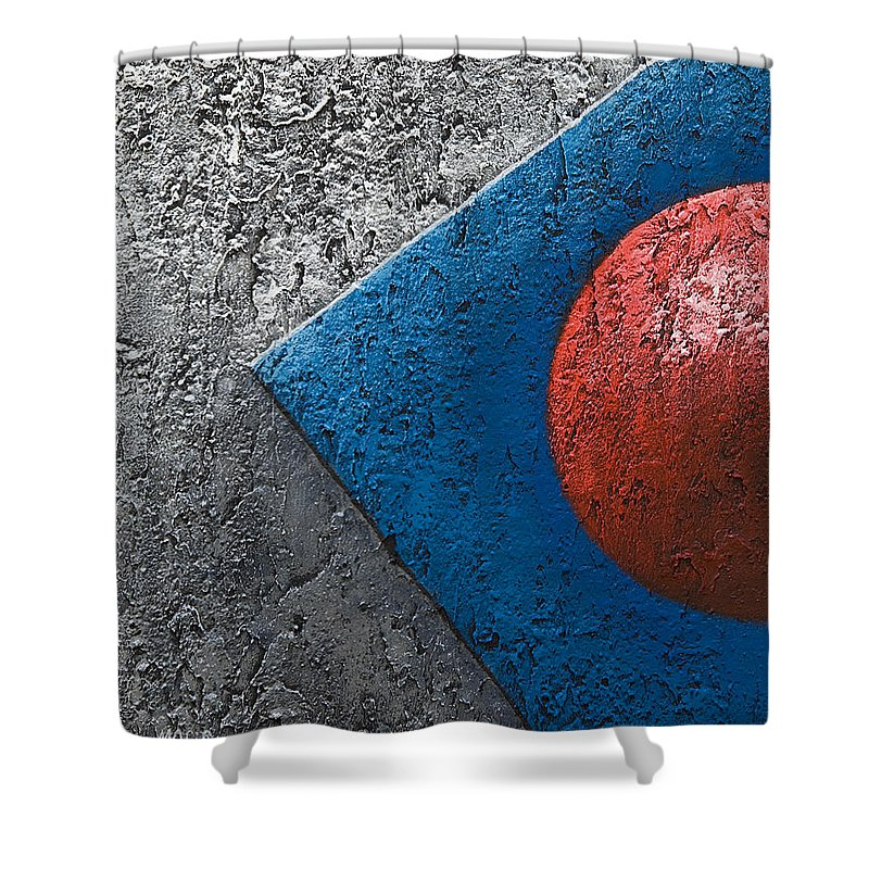 Art Shower Curtain featuring the painting Part Sphere 1 by Mauro Celotti
