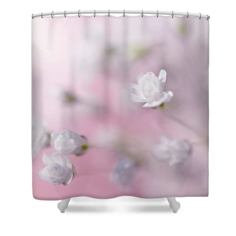 Jenny Rainbow Fine Art Photography Shower Curtain featuring the photograph Passion For Flowers. White Pearls by Jenny Rainbow
