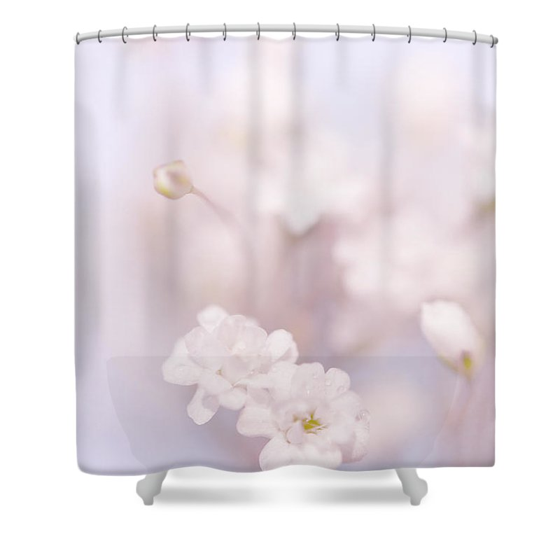 Jenny Rainbow Fine Art Photography Shower Curtain featuring the photograph Passion For Flowers. White Pearls Of Gypsophila by Jenny Rainbow