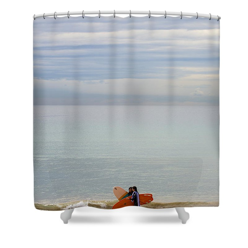Pastel Shower Curtain featuring the photograph Pastel Manly morning by Sheila Smart Fine Art Photography