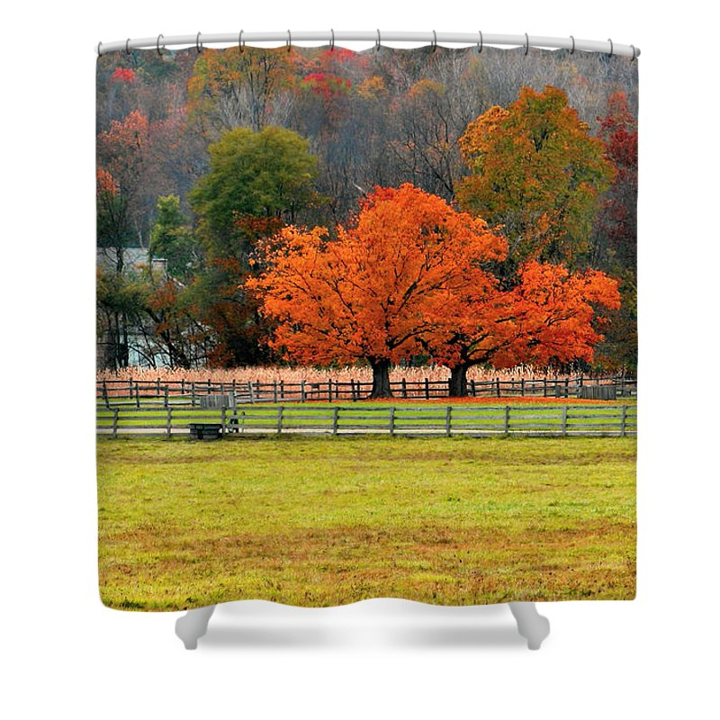 Autumn Shower Curtain featuring the photograph Pastoral Autumn by Kristin Elmquist