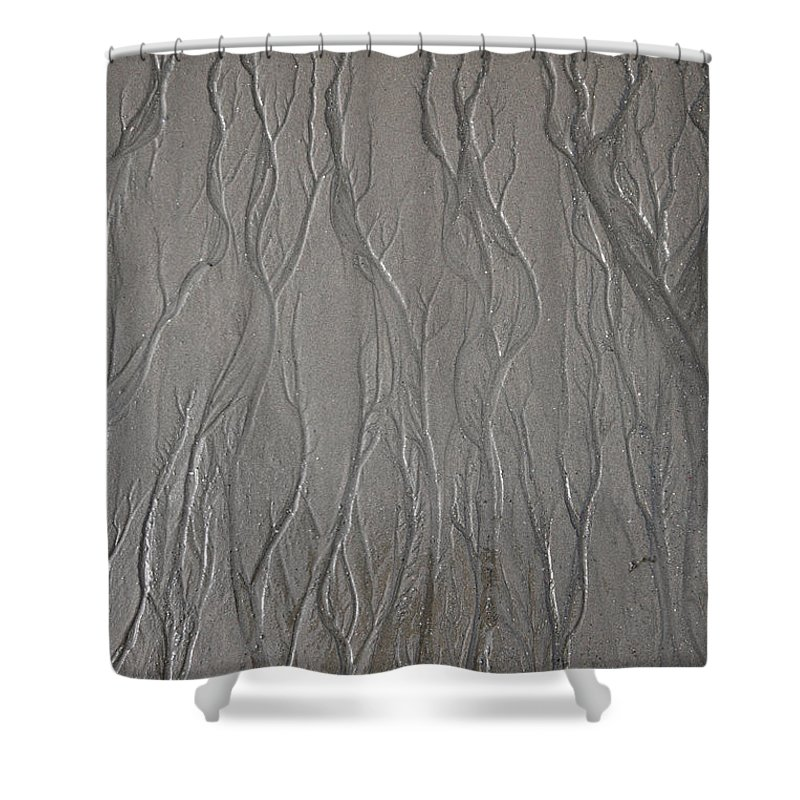 Patterns Shower Curtain featuring the photograph Patterns In Sand by Ted Kinsman