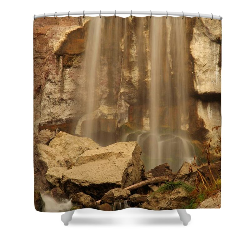Paulina Falls Shower Curtain featuring the photograph Paulina Falls Cascade by Adam Jewell
