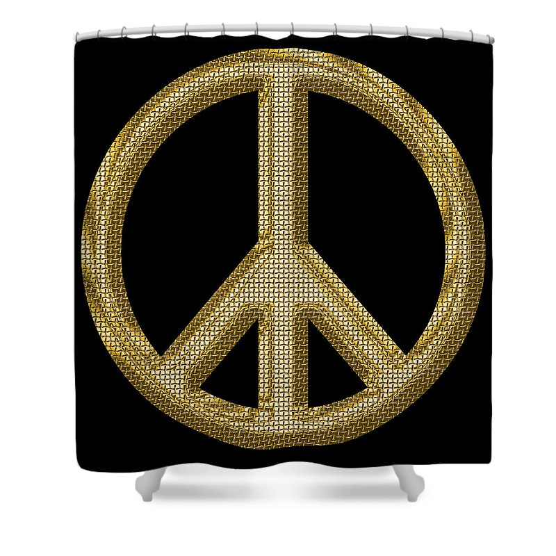 Peace Shower Curtain featuring the photograph Peace Sign 1 by Andrew Fare