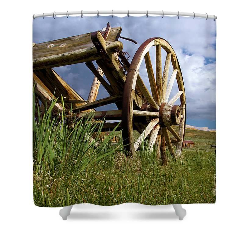Bodie Ghost Town Shower Curtain featuring the photograph Peak Oil by Adam Jewell