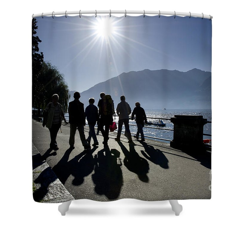 People Shower Curtain featuring the photograph People Walking by Mats Silvan