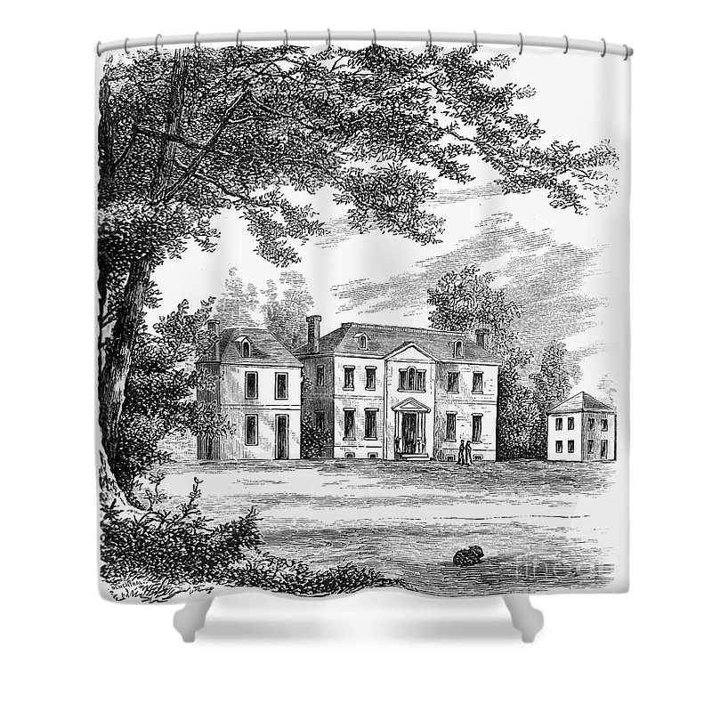 1761 Shower Curtain featuring the photograph Philadelphia: Mansion by Granger