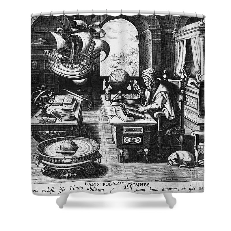 1580 Shower Curtain featuring the photograph Philosopher, C1580 by Granger
