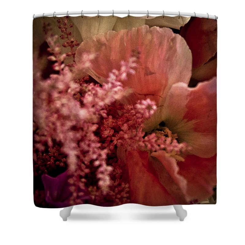 Flower Shower Curtain featuring the photograph Pink Arrangement by David Patterson