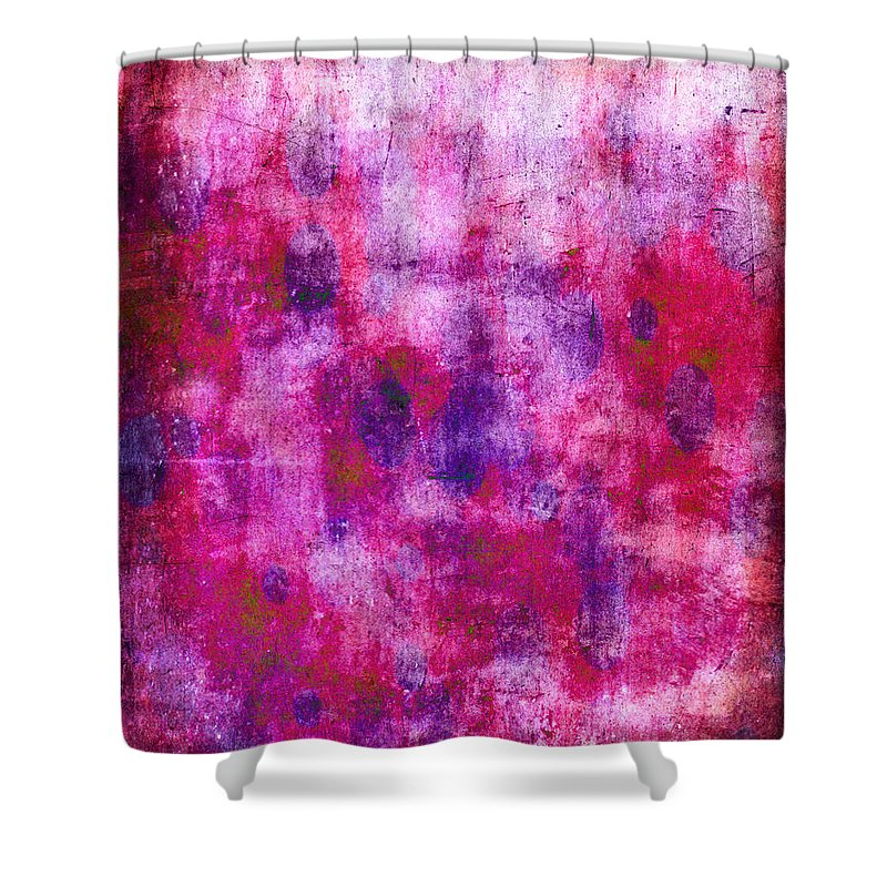 Pink Shower Curtain featuring the painting Pink Blueberries by Julie Niemela