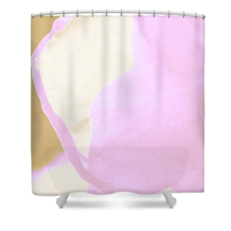 Augusta Stylianou Shower Curtain featuring the photograph Pink Rose Petal by Augusta Stylianou