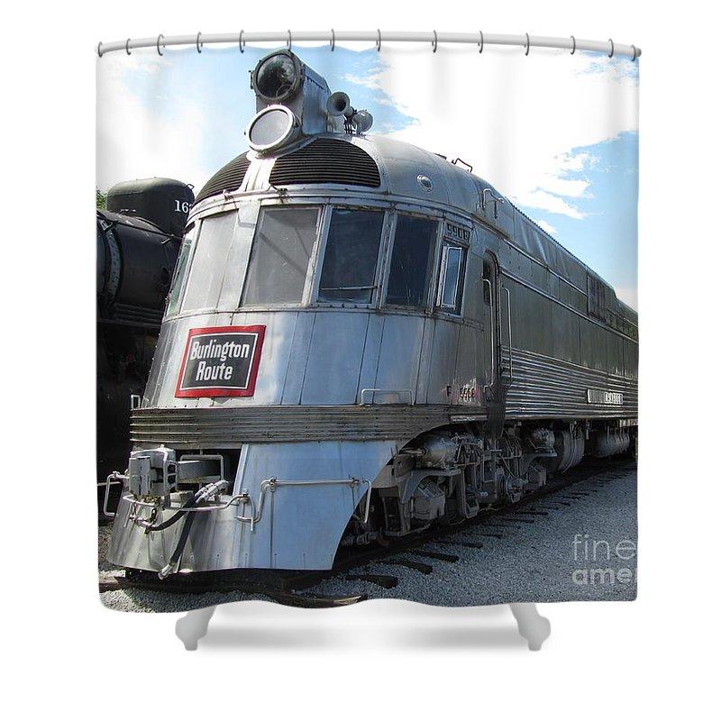 Burlington Shower Curtain Featuring The Photograph Pioneer Zephyr