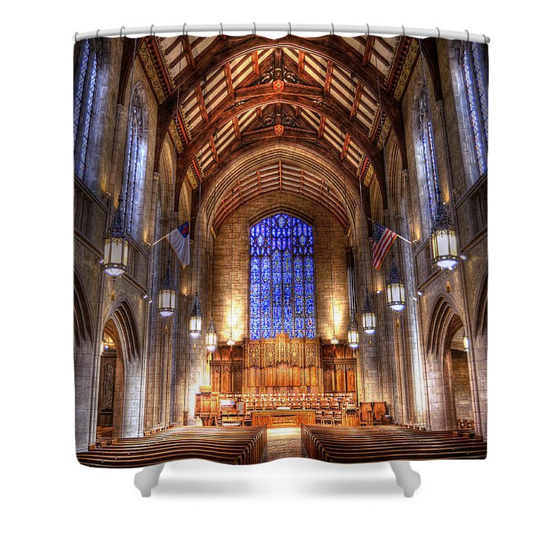 Hdr Shower Curtain featuring the photograph Place of Prayer by Brian Fisher