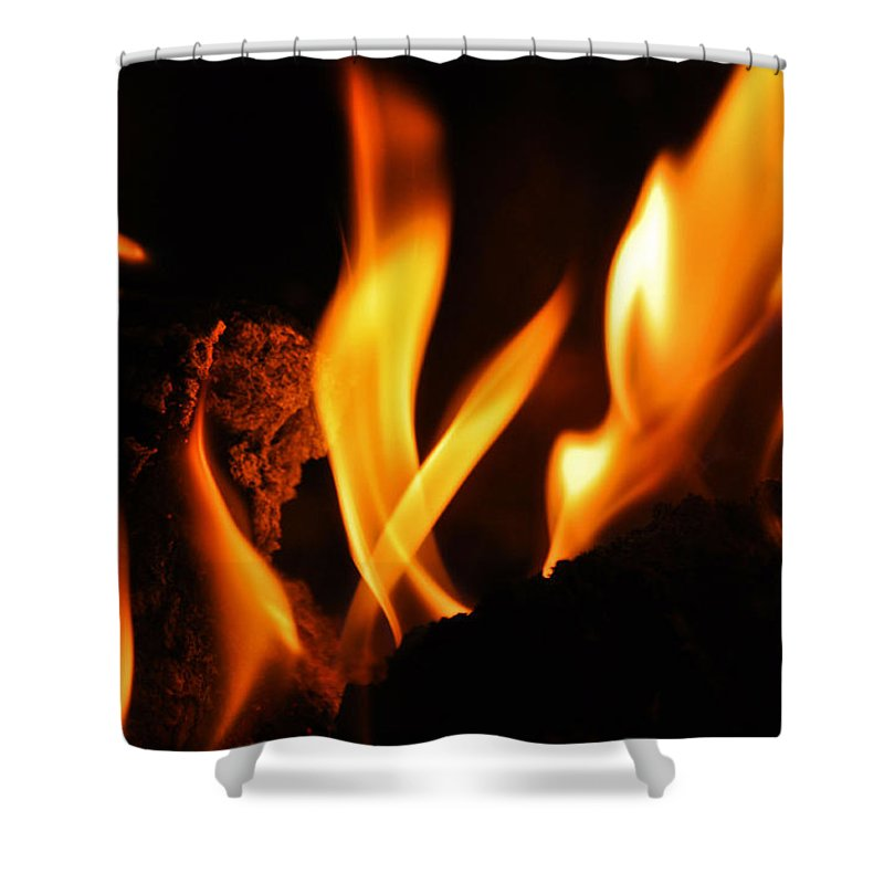 Fire Shower Curtain featuring the photograph Playing With Fire I by Christine Stonebridge