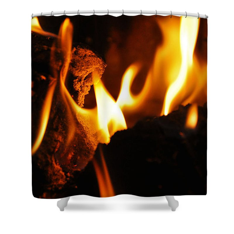 Fire Shower Curtain featuring the photograph Playing With Fire II by Christine Stonebridge