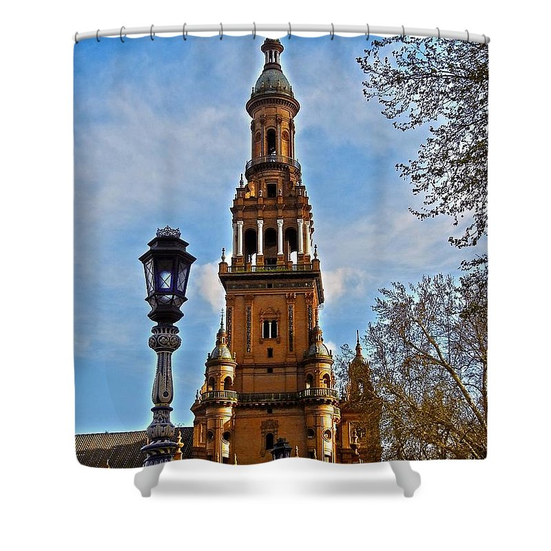 Europe Shower Curtain featuring the photograph Plaza De Espana - Sevilla by Juergen Weiss