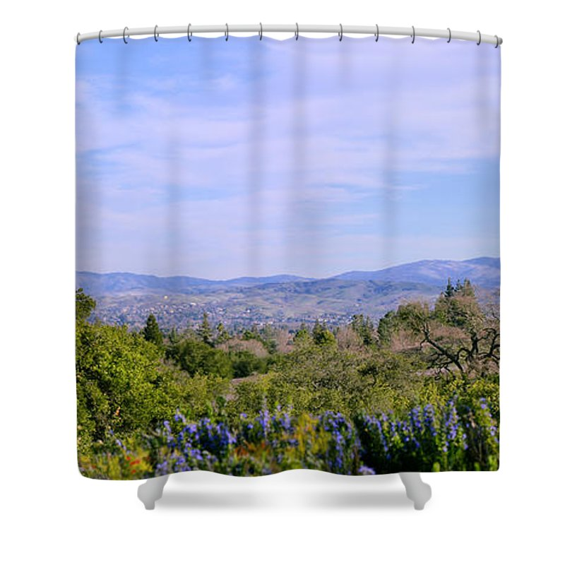 February Shower Curtain featuring the photograph Pleasanton Preserve by Karen W Meyer