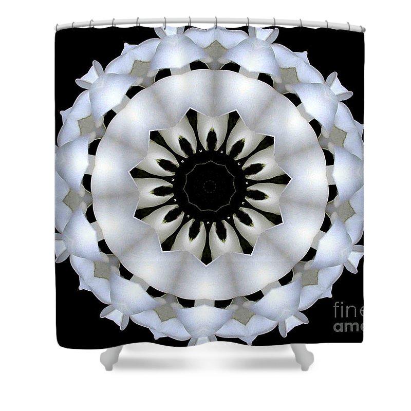Digital Design Shower Curtain featuring the photograph Plumeria 4 by Mark Gilman