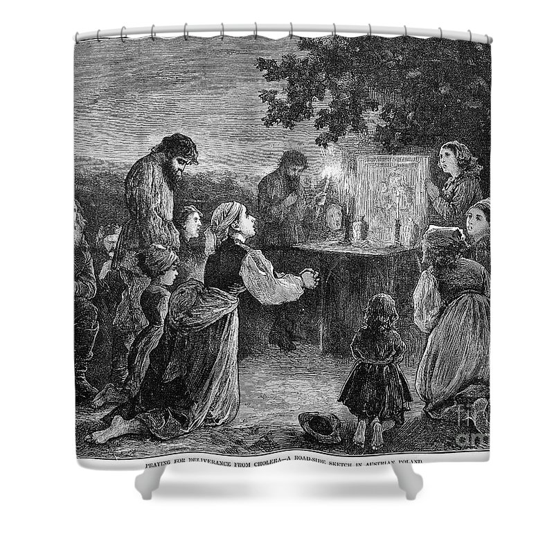 1873 Shower Curtain featuring the photograph Poland: Cholera, 1873 by Granger