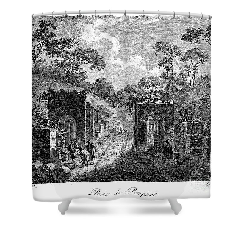 18th Century Shower Curtain featuring the photograph Pompeii: Herculaneum Gate by Granger